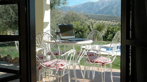 Acceso wifi en las villas.